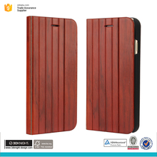 2017 new phone case unique wood flip case cover for iphone 7