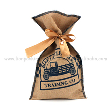 Recycled Drawstring Jute Bag Cocoa Beans Wholesale