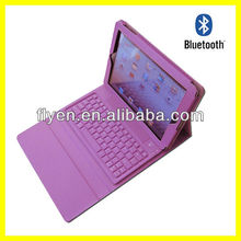 "External Bluetooth Keyboard for iPad 2 9.7"" inch Tablet PC Leather Keyboard Case"
