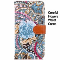 Colorful pattern strong magnet wallet leather case for Galaxy S8 phone shell cover for samsung S8 plus stand case with card slot
