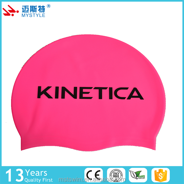 China manufacture simple style hot sell pattern silicone swimming cap