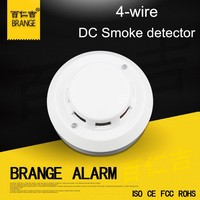 Home Security fire Detector 2 Wire 4 Wire GSM Smoke Alarm Detector 24V