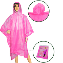 pink EVA waterproof material rain poncho fit all size