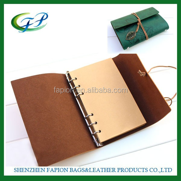 personalized leather executive year planner