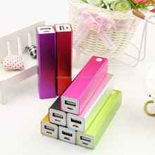 2600mah hot selling products mini custom factory sale 2600ma slim long power bank