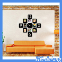 hot selling wall clock with multi photo frame 2015