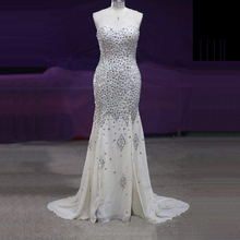 Formal Champagne Evening Dresses Beading Sequins Women Ladies Gowns Cheap Women Party Evening Dress