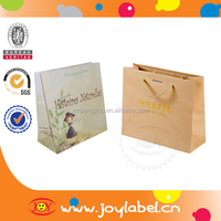 Promotional large paper shopping bags with handle