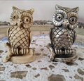 2017 factory make custom poly resin figures/custom small animal Owls figures Resin toy selling