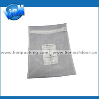 Manufacturing small mesh cosmetic pouch, drawstring mesh pen bag