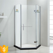 diamond shape shower bath design hinge enclosed portable bath shower screen