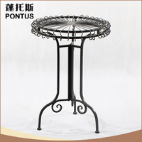Top quality indoor decoration metal portable bar table