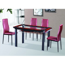 Simple and popular double layer glass dining table
