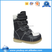 High quality medical kids safety shoe,kids arch support shoes with buckle strap