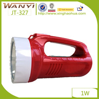 Factory Supply Chinese Cheap OEM led portable rechargeable search lighting new 1w flashlight with high capacity battery