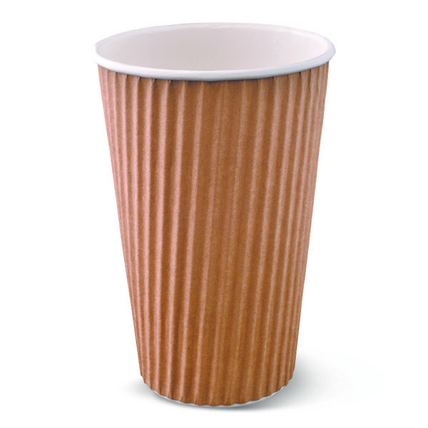 16oz Ripple Wrap Hot Cup Brown