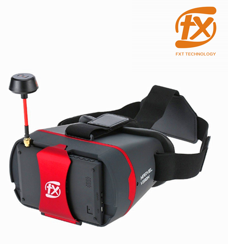 Shenzhen FXT New 3 in 1 5.8GHz Inductrix Blade Inductrix Drone Racing FPV Goggle with Detachable 4.3inch 5.8GHz FPV Monitor