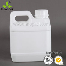 1L small HDPE plastic jerry can /jar/container with screw lid and handle