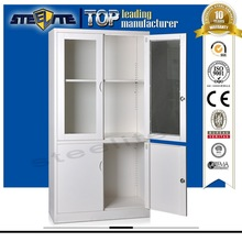 glass door laboratory chemical storage cabinet
