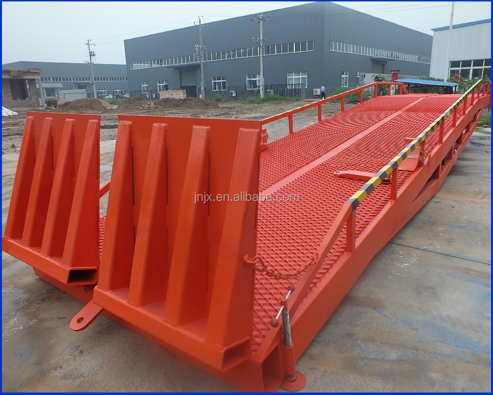 6-15 ton Warehouse Cargo Loading Ramp Mobile Container Yard Ramp