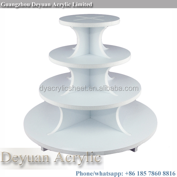 High quality footed cake stands acrylic custom made
