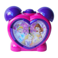 Fashion plastic heart shape table clock