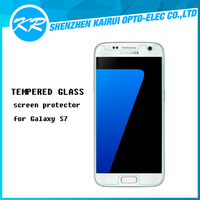 High quality clear 100% perfect fit tempered glass screen protector for Samsung galaxy S7