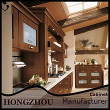 2015 New Style Foshan Modular Solid Wood Ready to Assemble Kitchen Cabinets Design