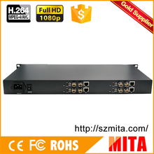 HD H.264 MPEG-4 AVC 1U 4 Channels SDI encoder for IPTV streaming to Youtube Wowza Facebook Ustream