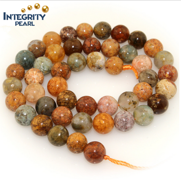 Imported Natural Multi-color gemstone round beads size 6 8 10 12mm,natural agate beads