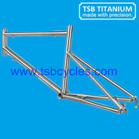 Custom-fit titanium minivelo bicycle frameTSB-TMF1101