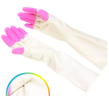 wholesale long cotton lined latex latex waterproof glove