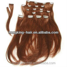 High quality tangle free 100% virgin hair extensions one piece clip in curly hair extensions