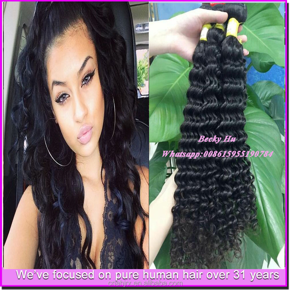 halloween decoration hair Original factory supplier unprocessed peruvian virgin human hair deep wave closure