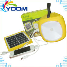 YMC-SL04 Portable multi-function dimmable with phone charge rechargeable solar lantern led solar camping lantern