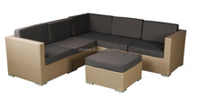 bedroom furniture rattan sofa set fancy sofa set with ottoman OMAIXE BRAND