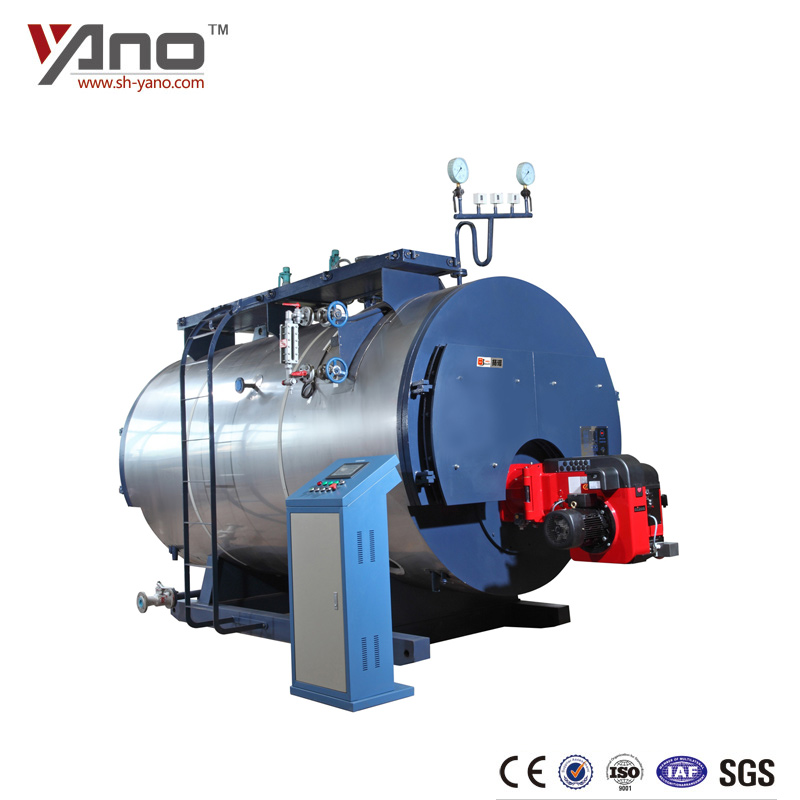 WNS1-6ton/h Water Tube 8ton/h Industrial Oil / Gas fired Boiler Steam