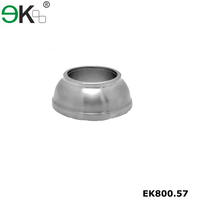 Stainless steel balcony railing handrail post base plate cover