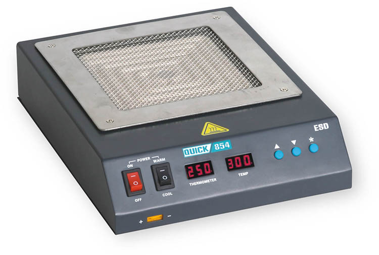 QUICK 854 infrared preheater for rework soldering station