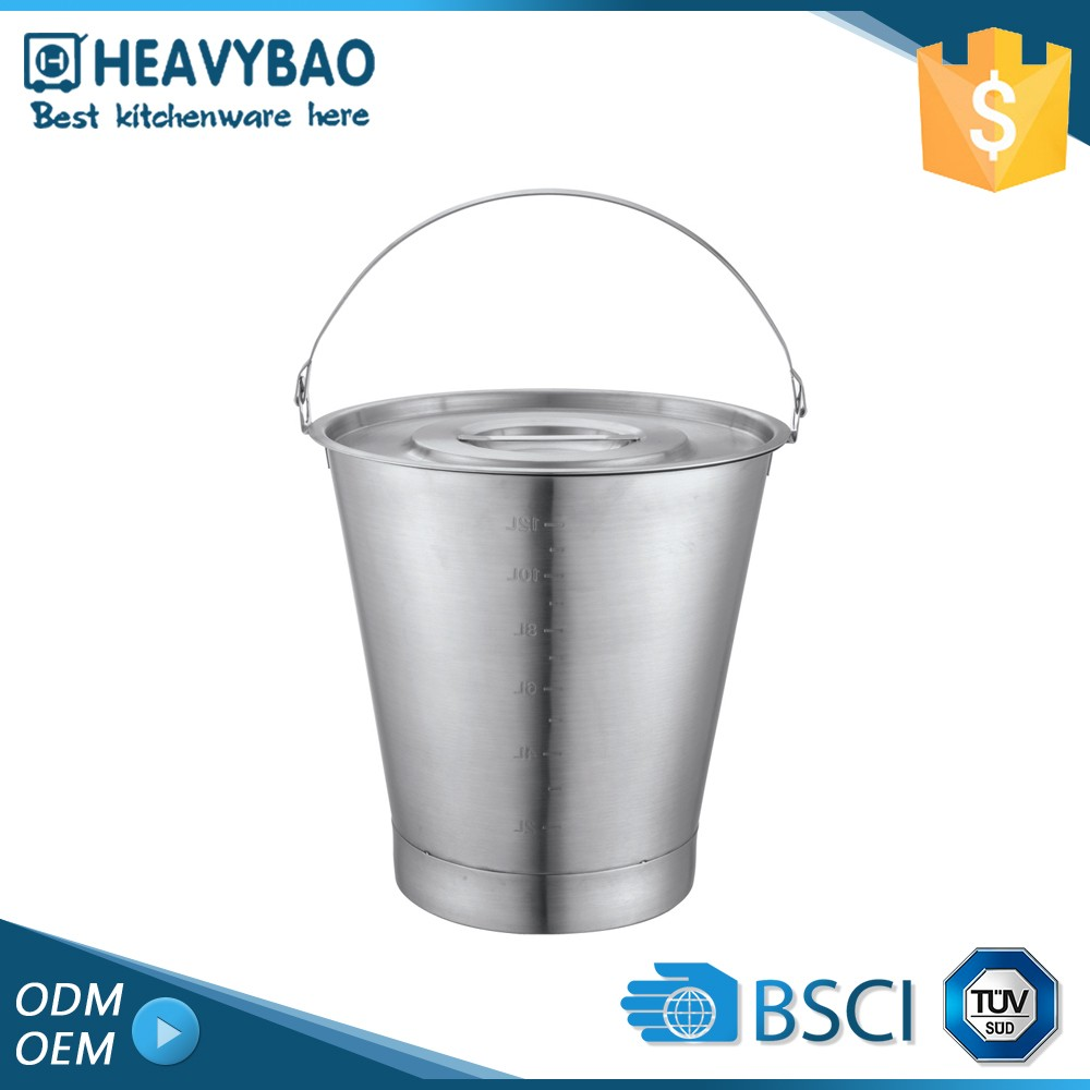 Heavybao Top Quality Kitchen Ware Stainless Steel Serving Kinds Bucket Supplier Of Buckets