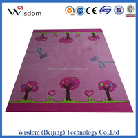 Pink little tree soundproof carpet floor tiles for children