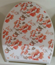 fashion design flowery label in mold toilet seat