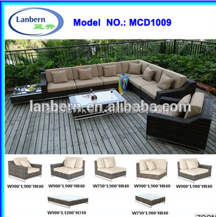 Hot sale Patio All Weather balau wood outdoor furniture MCD1009