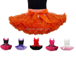 Hot red ballet tutu baby toddler clothing dance costumes chiffon party dress