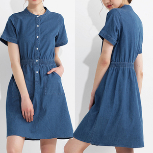 Women Summer Clothing 100 % Cotton Denim Dress