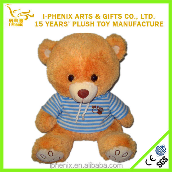 Cute design made in China lovely T-shirt plush bear stuffed child toy plush bear