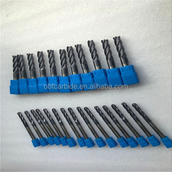 High quality tungsten carbide end mill cutter sizes 1 - 20 mm Standing for low wholesale
