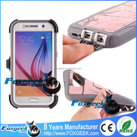 Hard TPU Shockproof Defender Outdoor 360 Protective Otterboxing Mobile Phone Case Packing with Belt Clip for Samsung Galaxy S6