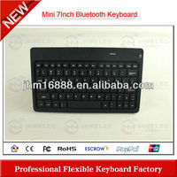 7 Inch flexible wireless bluetooth keyboard for iphone5