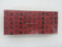 wood rubber cartoon stamp